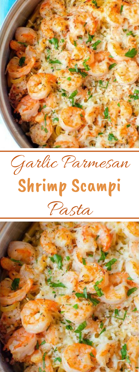 Garlic Parmesan Shrimp Scampi Pasta #quick #dinner