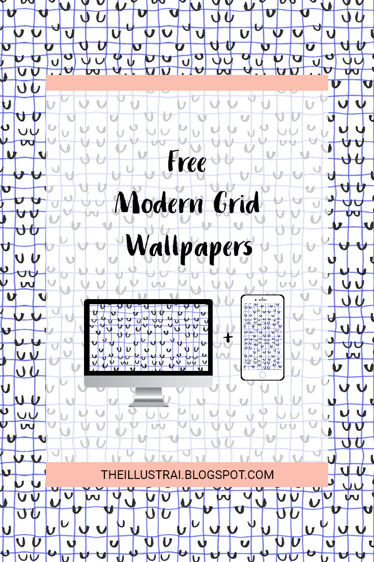 Download these free modern grid wallpapers for your phone and desktop.