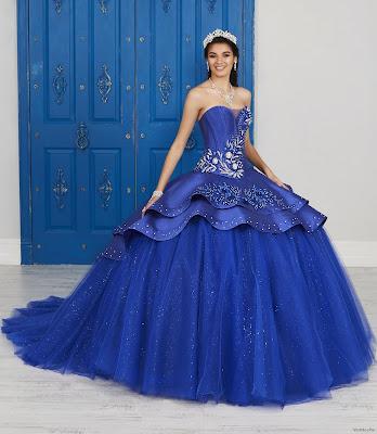 Vestidos de XV Años Color Azul
