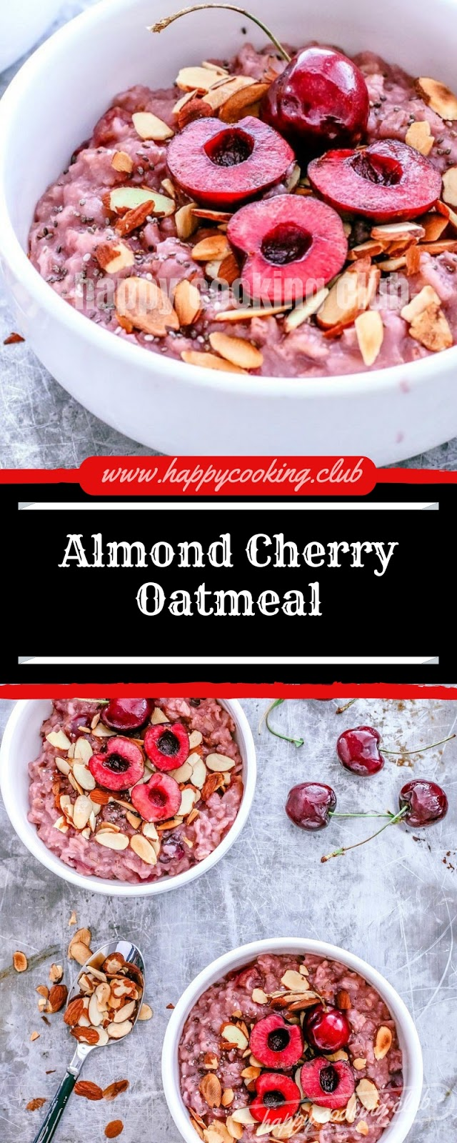 Almond Cherry Oatmeal