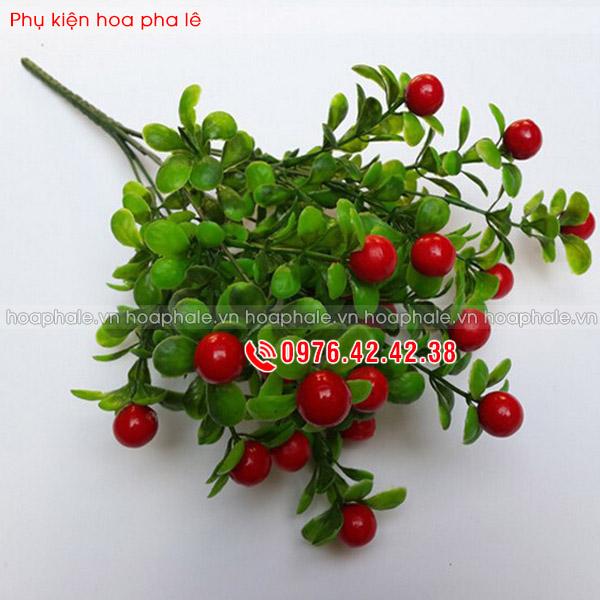 Cụm cherry - phụ kiện cắm hoa pha lê