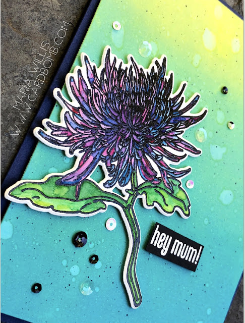 #cardbomb, #mariawillis, #heroarts, #simonsaysstamps, #stampinup, #ablognamedhero, #mum, #momsclematis, #timholtz, #watercolor, #embossingpaste, #heatemboss, #flowers, #sparkly, #stamps, #ink, #paper, #papercraft, creative, #craft, #handmade, #diy, #art,