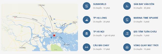 Vị trí và kết nối của Tuần Châu Marina