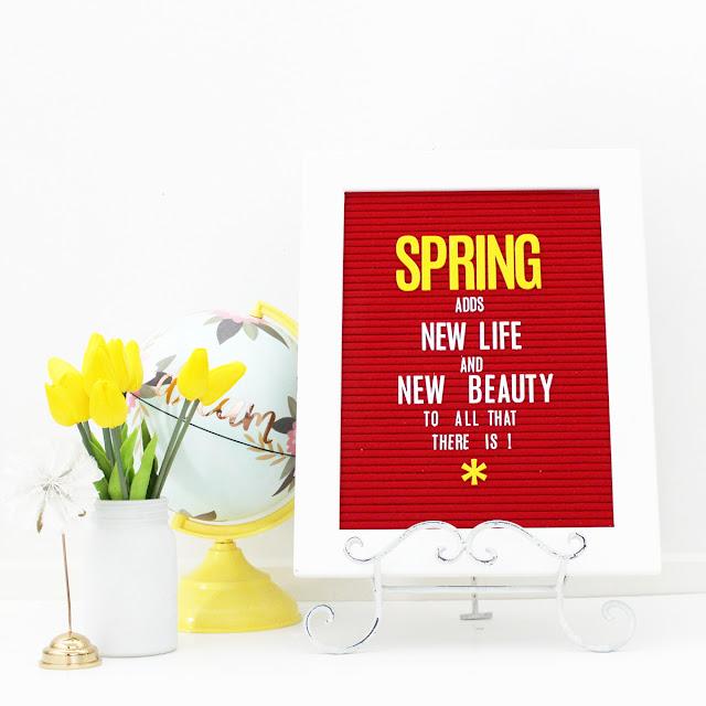 Heidi Swapp red letterboard