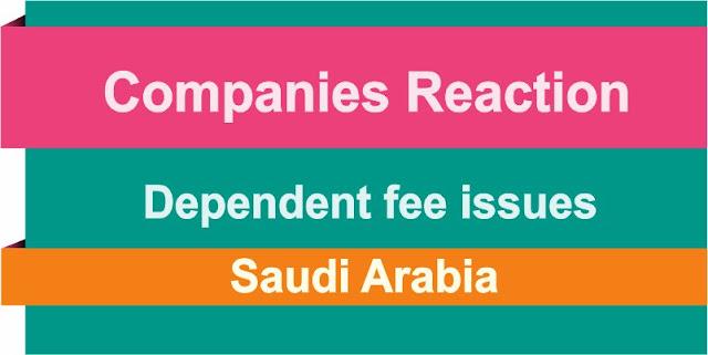 Saudi Arabia Employers reaction Dependent Fees