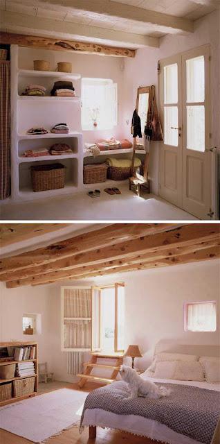 Arquitectura construcción de casa rústica