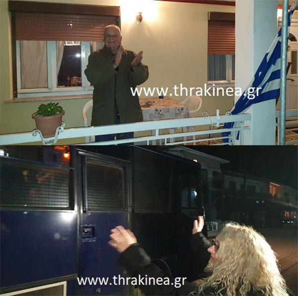 Συγκινητικές στιγμές στις Καστανιές: Οι κάτοικοι ευχαριστούν αυτούς που κρατούν την Ελλάδα όρθια (ΒΙΝΤΕΟ)
