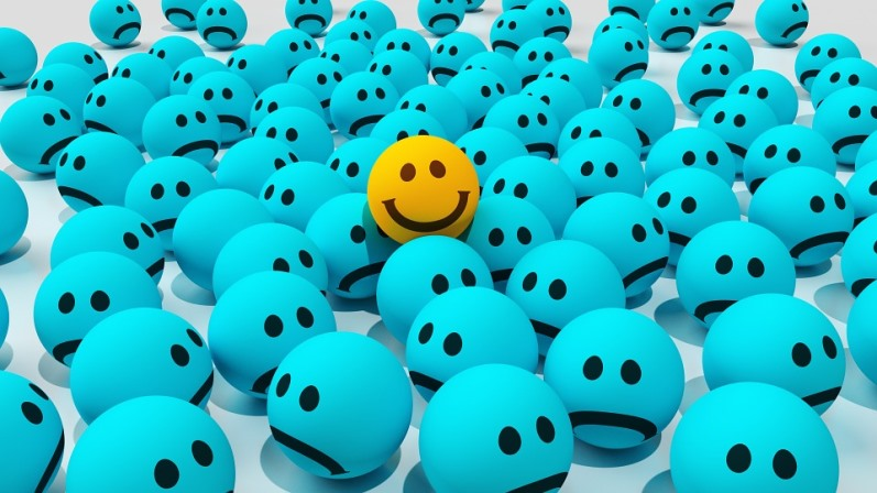 Lifestyle Changes That Can Make You Healthier Smiley face among sad faces Pixabay image