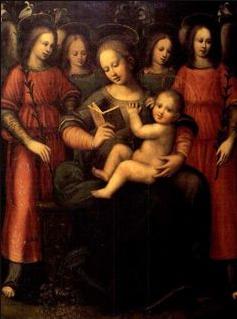 Madonne à l'Enfant avec Quatre Anges, Plautilla Nelli