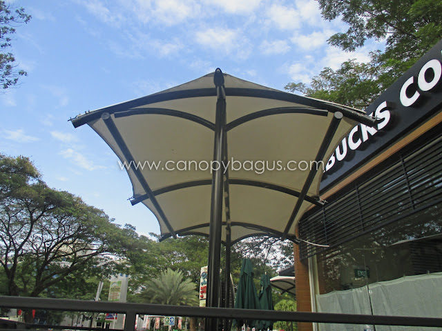 tenda membrane kafe starbucks coffe tangerang