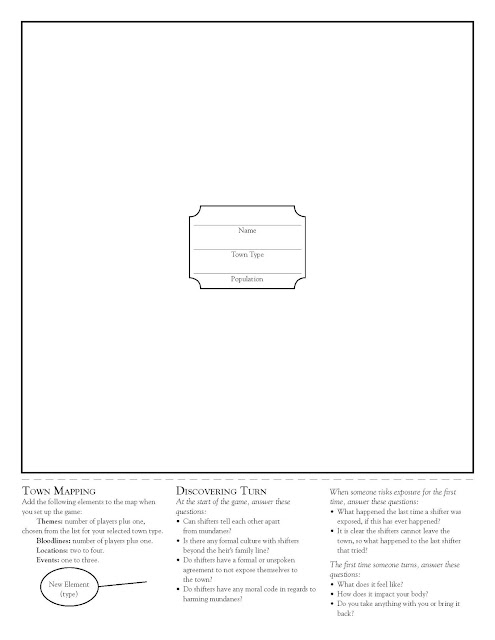 The Turn town map sheet with the Discovering Turn questions
