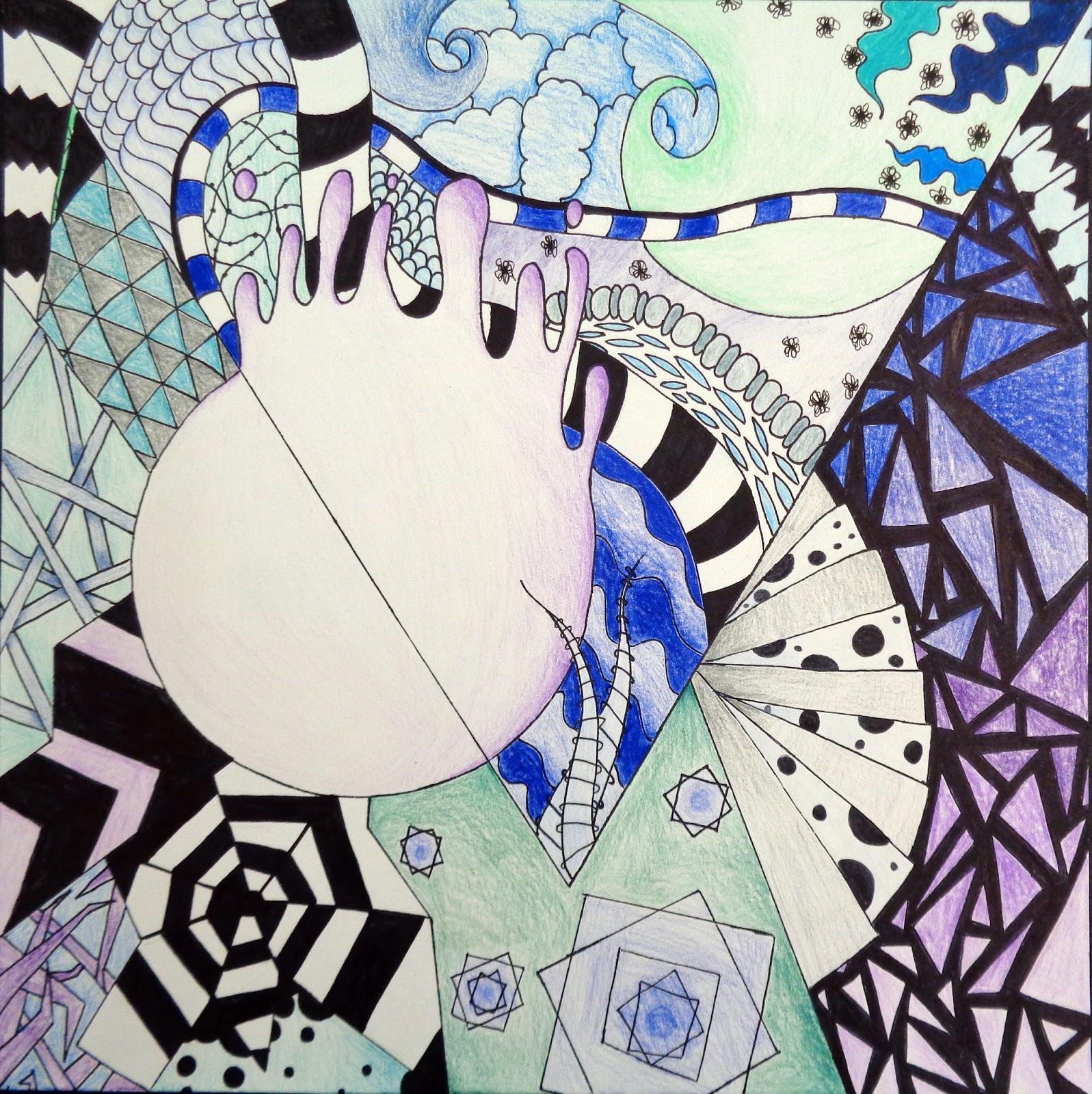Hudsonville Art Program: Zentangle Non-Objective Project