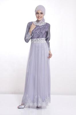 Model Baju Gamis Pesta Muslimah Brokat Mewah