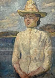 Edvard Munch Inger au coucher de soleil (1888) musée des beaus-arts de Bergen