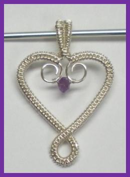 Wire Woven Heart Pendant Tutorials - The Beading Gem\'s Journal
