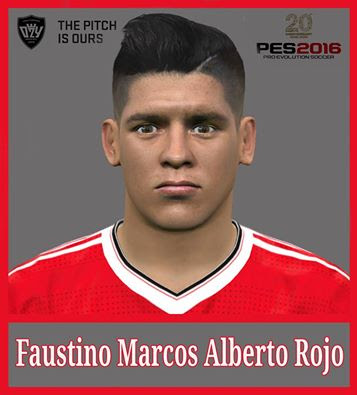 PES 2016 Marcos Rojo Face by Ozy_96 PES MOD