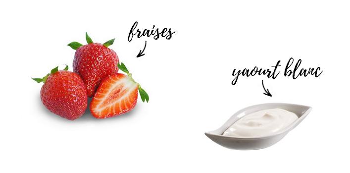 ingrédients masque fraise