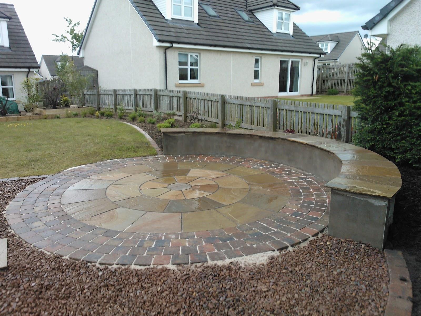 Garden Construction Company - Edinburgh Landscaping ... on Circular Patio Ideas id=92809