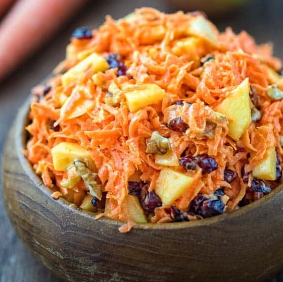 SHREDDED CARROT SALAD WITH CRANBERRIES #vegetarian #lunch