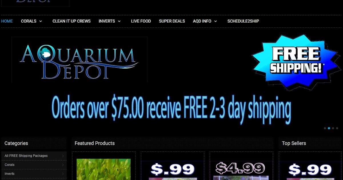 Color Reef Aquarium Depot Website Review