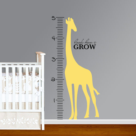 Decorative Growth Charts Rulers As Baby Gifts Driven By Decor