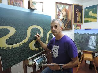 Pintores colombianos Jorge-Marín Pintura-realista