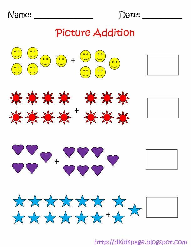kids page picture addition math worksheets. Black Bedroom Furniture Sets. Home Design Ideas
