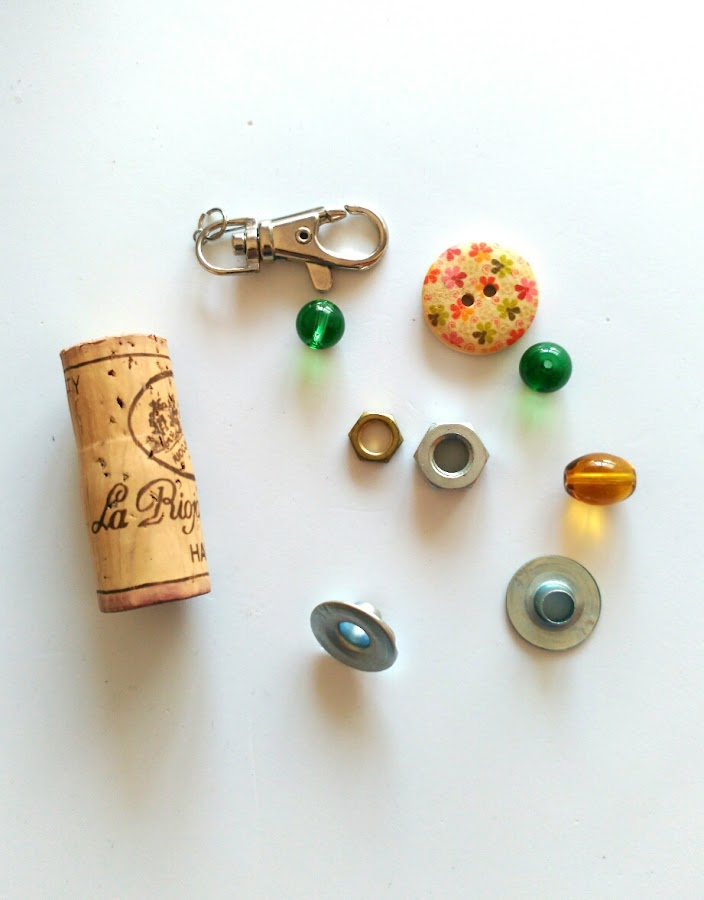llavero, corcho, wine cork, diy, handmade