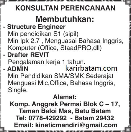 Lowongan Kerja Structure Engineer Desember 2017