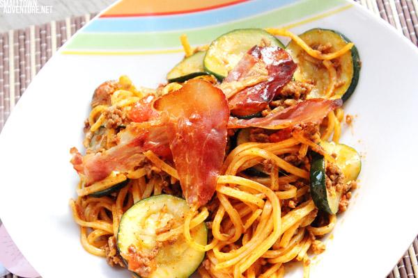 Zucchini Nudelpfanne, Hackfleisch, Nudelpfanne, Pfannengerichte, Rezept