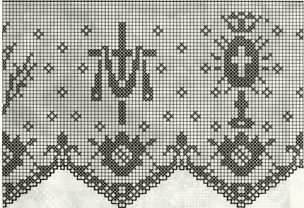 professione donna schemi per il filet bordura per altare