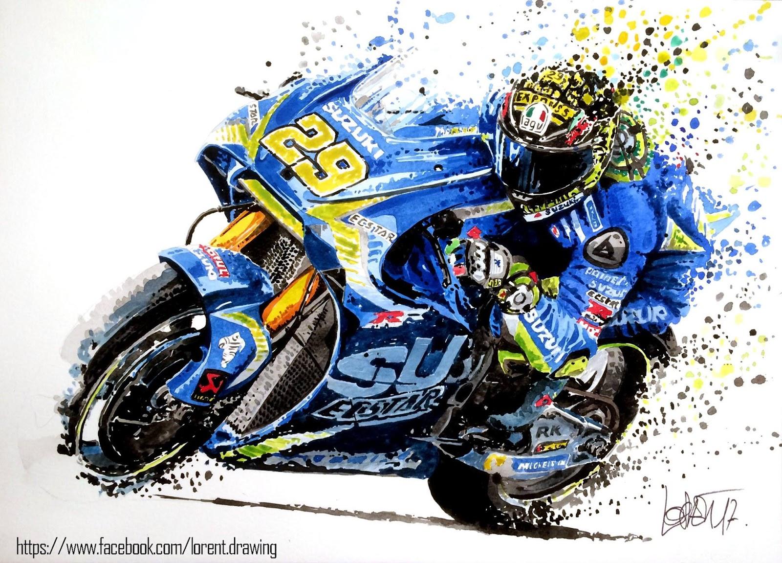 motorcycle drawing lorent racing foto