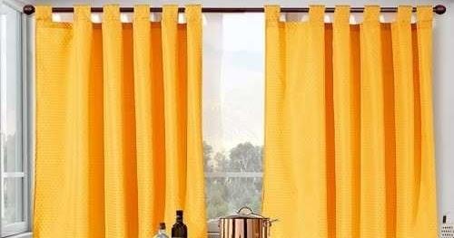 Cortinas de 2 pa os para cocinas de todos los colores for Cortinas amarillas