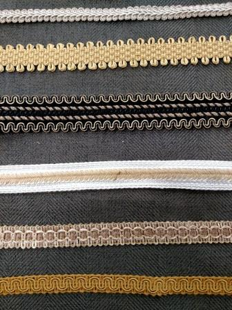 Colour Sew-select Upholstery Chair Braid Gimp Fabric Trim Trimming Edge Cream
