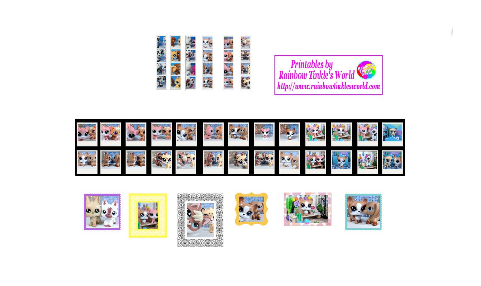 Rainbow Tinkle S World Lps Fans Diy Miniature Printable Lps Frames And Photos For An Lps Dollhouse