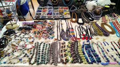 Necklaces and handmade beads