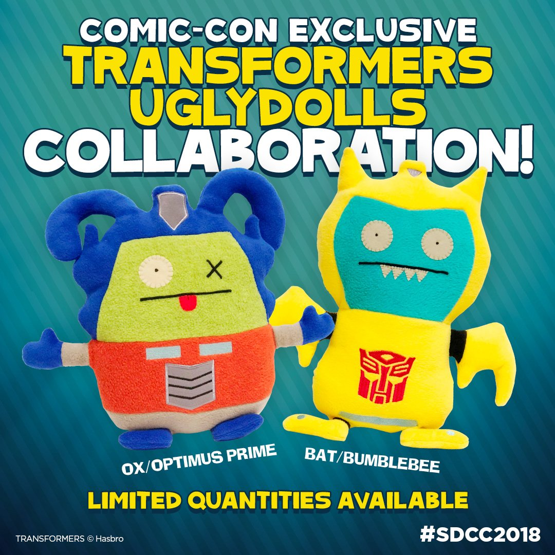 SDCC-Exclusive TRANSFORMERS UGLYDOLLS for San Diego Comic