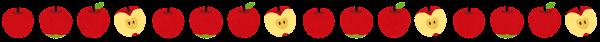 リンゴのライン素材