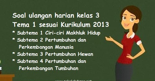 Kunci Jawaban Tema 3 Kelas 6 Ulangan Harian 2