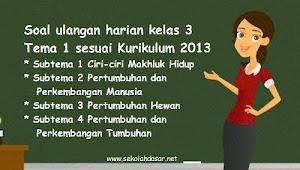 Soal Ulangan Harian Kelas 3 Tema 1 Kurikulum 2013