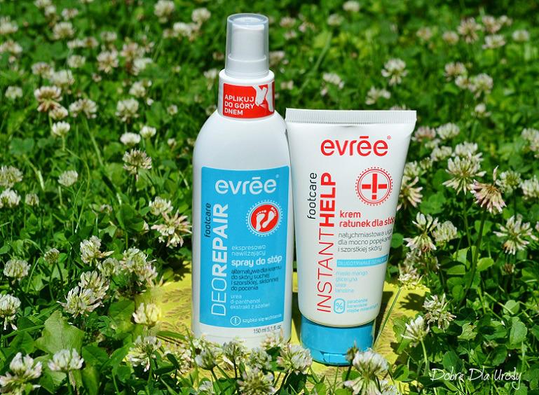 Evree Footcare Ekspresowo nawilżający spray oraz Krem ratunek dla stóp - podaruj stopom ukojenie!