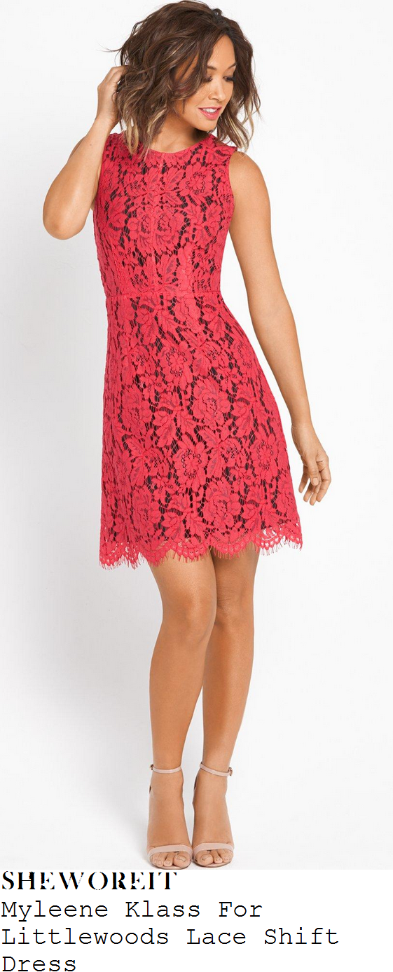 myleene-klass-for-littlewoods-bright-pink-floral-lace-shift-dress