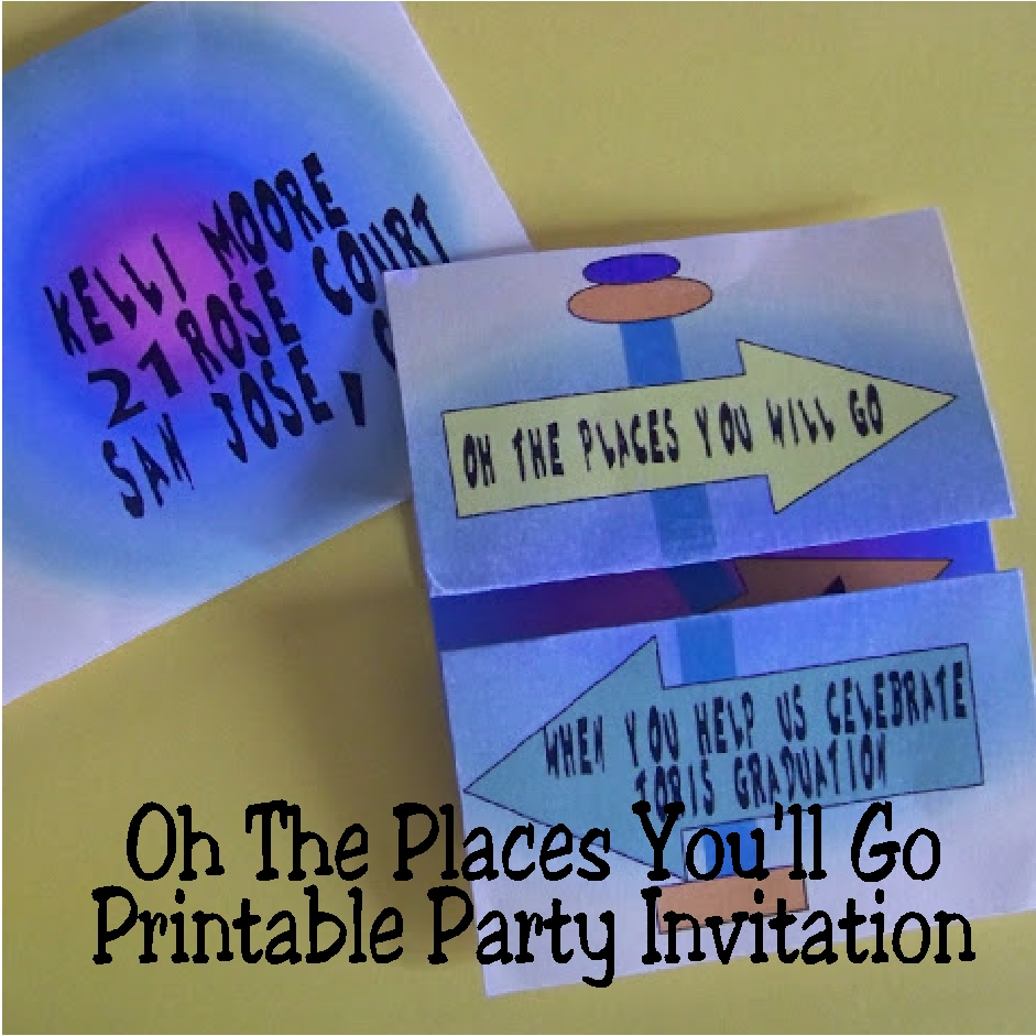 Oh The Places Youll Go Party Invitation
