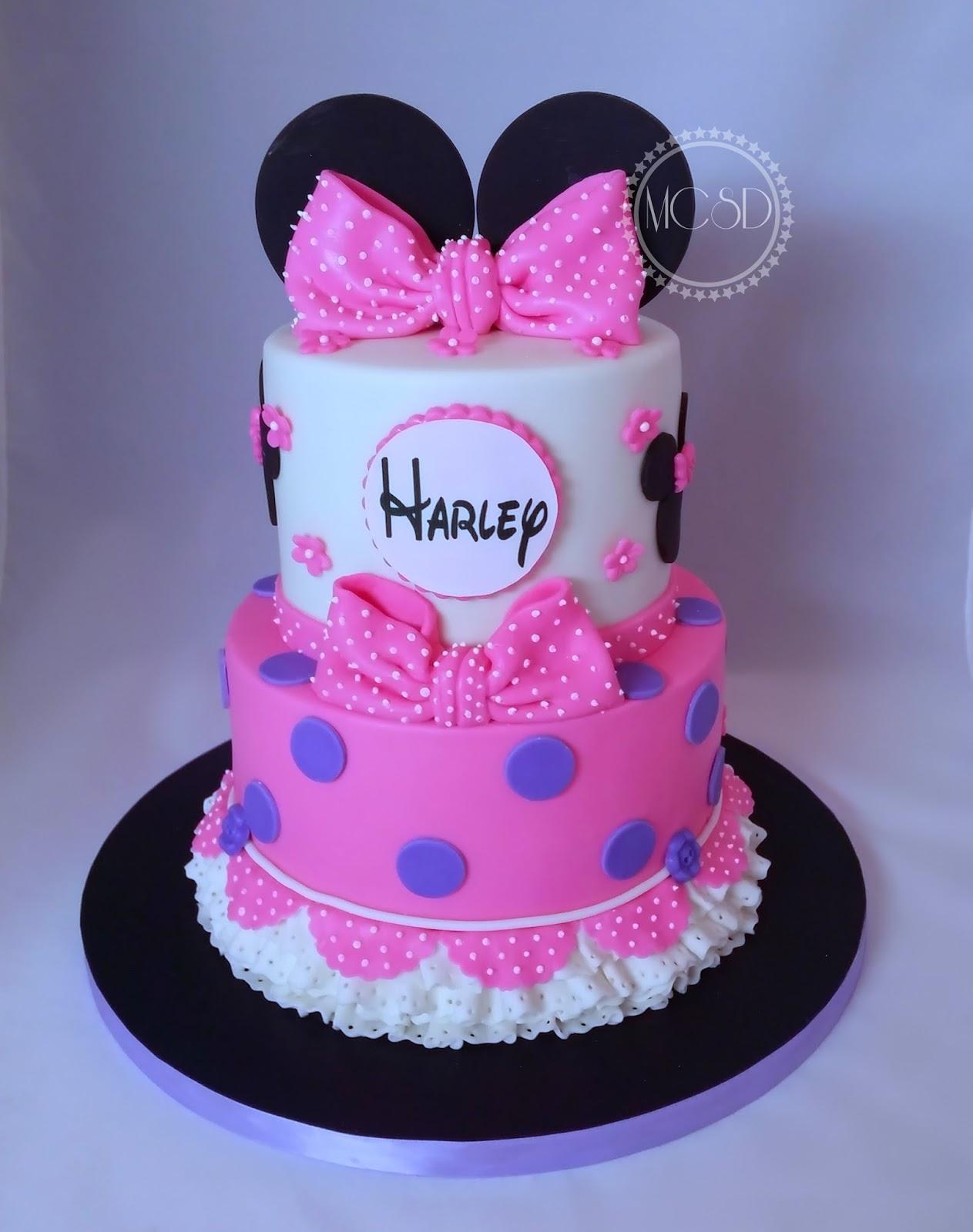 My Cake Sweet Dreams Minnie Mouse 1st Birthday Cake