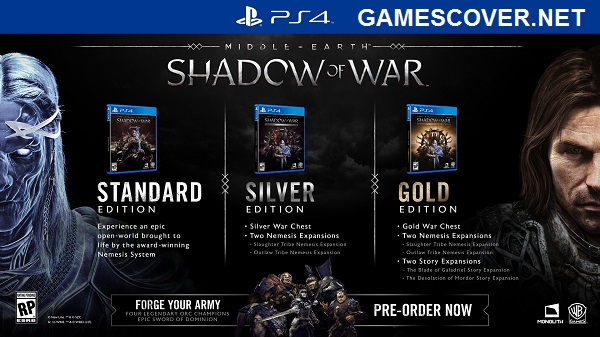 Middle Earth Shadow of War Editions