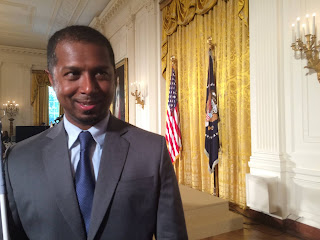 Sachin Pavithran at the Whitehouse Monday.