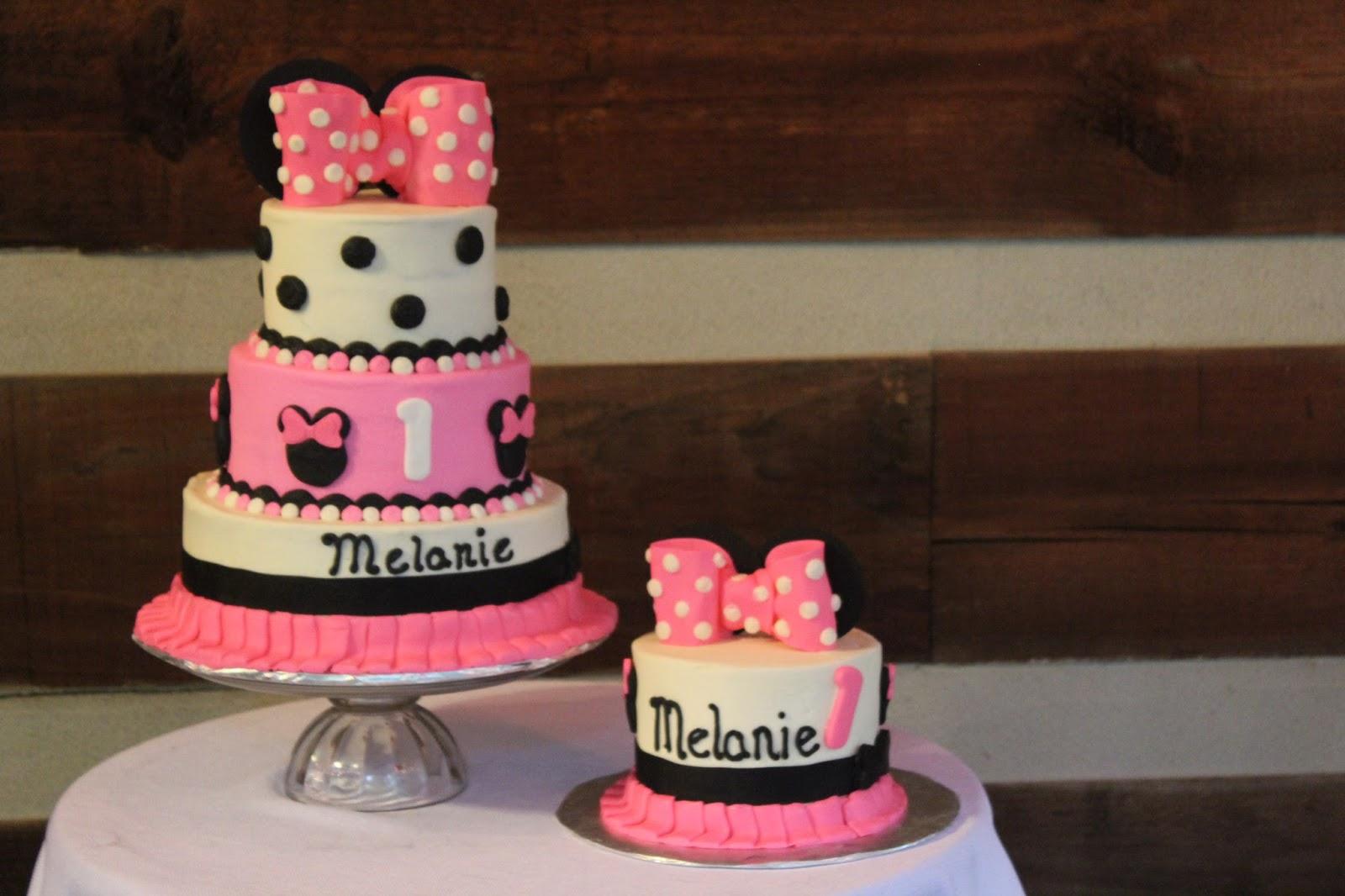 Wondrous Designs By Lamuir Minnie Mouse 1St Birthday Cake Smash Cake Funny Birthday Cards Online Elaedamsfinfo