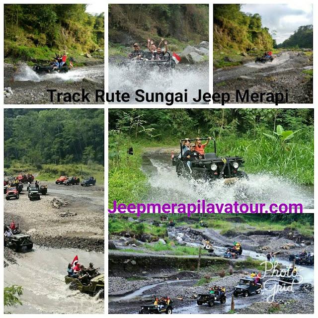 Track Rute Air Wisata Jeep Di Kali Kuning Merapi