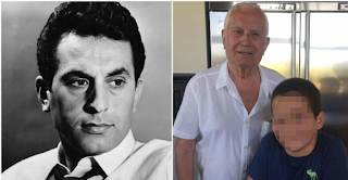 O Νίκος Ξανθόπουλος ποζάρει στα 83 του με τον εγγονό του και είναι ένας τρισευτυχισμένος παππούς