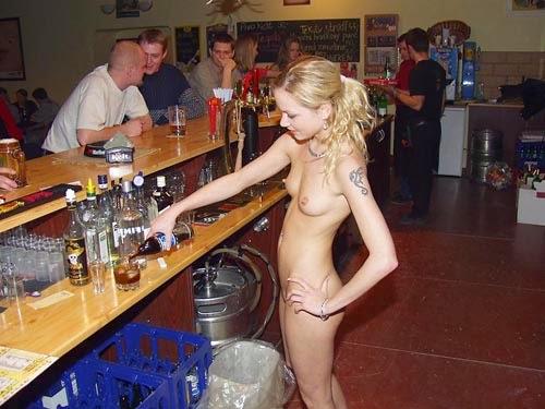 Nasty slut bar tender fucks me and all my friends Part 10